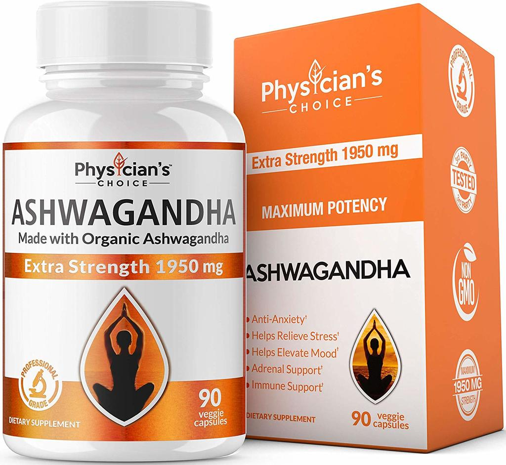 Physician's CHOICE Organic Ashwagandha Root